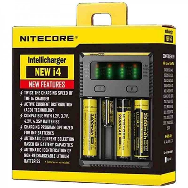 Chargeur d'Accus Nitecore New I4